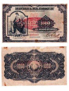 - Paper Reproduction -  Paraguay 10 guarani 1943    353