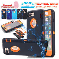 F iPhone X 6s 7 8 Plus Hybrid Shockproof Hard Armor Case Heavy Duty Rugged Cover