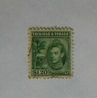1938 KGV1 POSTAGE STAMP Trinidad and Tobago $1.20 Used
