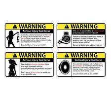 Fun Warning Car Emblem vinyl sticker decal 8pcs