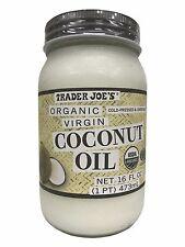 Trader Joe's Organic Virgin Coconut Oil Cold-pressed & Unrefined 16 FL OZ