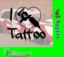 I love Tattoo JDM Sticker Aufkleber oem Power fun like Shocker Hater