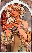 Alphonse Alfons Mucha Art Nouveau Deco Fruit Dance Flower & FREE Print -4 Prints