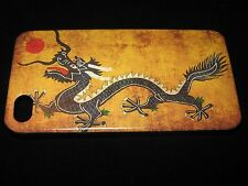 Dragon Cover Case for iPhone 4 4s Chinese Dragon on Tan background Case