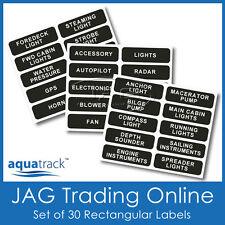 SET RECTANGULAR SWITCH PANEL LABELS -Boat/Marine/Caravan/4x4 Name Decal Stickers