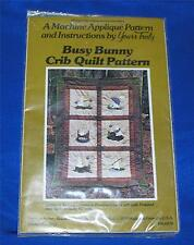VTG 1979 UNOPENED YOURS TRULY MACHINE APPLIQUE BUSY BUNNY BABY QUILT PATTERN