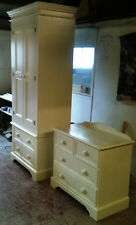 Painted Wardrobe and Chest of Drawers Set