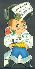Vintage Hallmark Greeting Card HAPPY BIRTHDAY GRANDSON Boy Dressed as Pirate