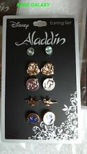 Disney ALADDIN Five Pair Earrings Set! LICENSED! NEW!