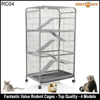 Cozy Pet Rodent Cage for Rat, Ferret, Chinchilla, Degu or other Small Pets RC04