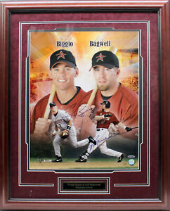 CRAIG BIGGIO JEFF BAGWELL SIGNED AUTOGRAPHED 16x20 FRAMED PHOTO TRISTAR 6179817