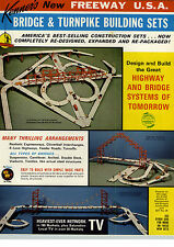 1964 PAPER AD 2 Sided Kenner Toy Bridge & Turnpike Building Set Highway