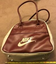 NIKE BAG MAROON & BEIGE handbag shopping sports tote ref: F1 JPM
