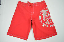 [5438] DIESEL NWT RED  AND GRAY BMBX DECK SHORTS SWIM TRUNKS SIZE: SMALL