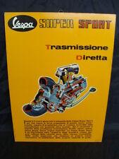 CARTELLO INSEGNA MOTORE VESPA SUPER SPORT 180 SS OLD SIGN LANG GENOVA ITALY