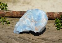 Blue Calcite Natural Rough Chakra Stone 156g for Energy Healing Work Relaxing