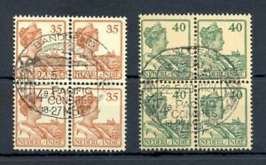 DUTCH INDIES-INDONESIA 1929-PM=CONGRES BANDOENG PACIFIC =# 127-128 BL OF 4-LUXE