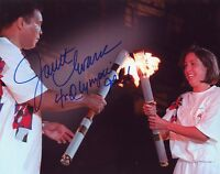 "~~ JANET EVANS Authentic Hand-Signed ""SWIMMER GOLD MEDAL USA OLYMPICS""8x10 photo"