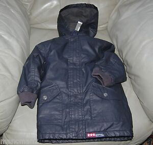 3POMMES 2 IN 1 BOYS WINTER PARKA/GILET NAVY BLUE SIZES 2YEARS & 3YEARS