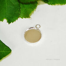 12mm Round Silver Plated Cabochon (Cab) Drop Setting (#A1-04) 2pc