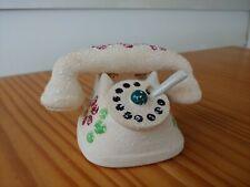 Vintage Telephone Salt and Pepper Shaker with Salt Cellar Base