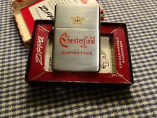 VINTAGE ZIPPO CHESTERFIELD CIGARETTES LIGHTER 1958