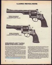 1988 LLAMA Super Comanche IV and V Revolver AD Print Gun Advertising
