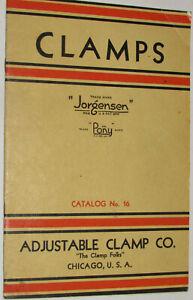 VINTAGE 1942 ADJUSTABLE CLAMP CO DEALER CATALOG! JORGENSEN! PONY! PICS & PRICES!