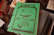 JLG 15S 20S SIZZOR AERIAL Scissor Man Lift Parts Manual Book catalog spare 1980