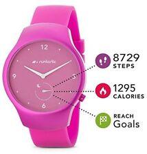 BNIB Runtastic Moment Fun Activity and Sleep Tracking Watch Steps Raspberry Pink