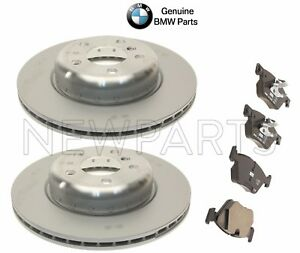For BMW F10 528i xDrive 11-16 Front Disc Brake Rotors & Brake Pad Set Genuine