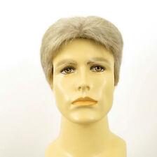 Perruque homme 100% cheveux naturel blanc méché gris ref JACK 51