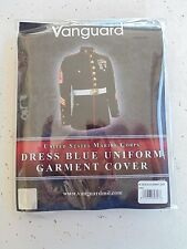 USMC MARINE CORPS EMBOIDERED LOGO BLACK DRESS UNIFORM JACKET & SUIT GARMENT BAG