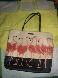NEW LOTS OF TWO KATE SPADE TOTES, FLAMINGO TOTE AND YELLOW TOTE BAG