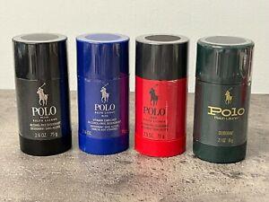 NEW Ralph Lauren Polo Red, Black, Blue Men's Deodorant Stick 2.6 oz 75 g Sealed
