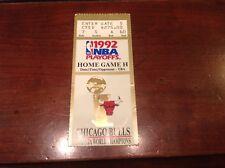Face $275 Michael Jordan 1992 Nba Playoffs Ticket Chicago Bulls