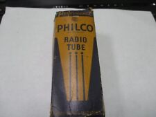 Rca 80 vacuum radio tube or valve in a Philco 80 box, engraved base may be Nos