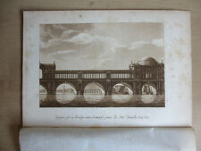 Samuel Ireland, 11 plates of London Bridges from Picturesque Views on Thames