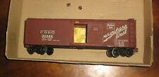 Vintage O-Scale/Gauge CB&Q Box Car,Wood/Plastic/Metal/Brass,Scratch-Built Kit