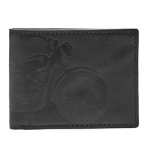 Relic Mens Rider Embossed Leather Traveler Wallet, Black, One Size