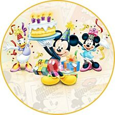 Minnie Mickey Decoration Gateau Disque Azyme Comestible Anniversaire