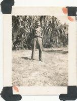 WWII 1942-3 USAAf Ralph Ecklund's Drew Field, Tampa  FL Photo #2 me GI haircut