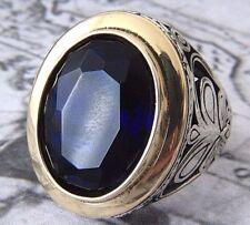 Türkische Osmanisch Shapir Schmuckstein massiv 925 Sterling Silber Herren Ring
