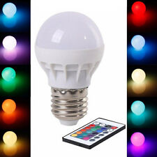 Lampe Birne E27 3W RGB LED Glühbirne Farbe ändern mit Fernbedienung