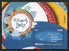 Greece 2017 MNH Ancient Civilizations Forum 1v Numbered M/S Feuillet Stamps