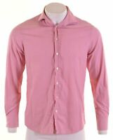 JAEGER Mens Shirt Size 16 Large Pink Pinstripe Cotton Classic Fit  HJ17
