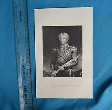 Original 1846 Antique Engraving Print Major General Sir Robert H Sale Fisher