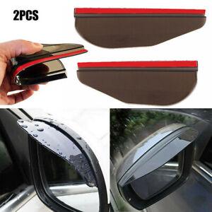 2Pcs Car Rear View Side Mirror Rain Guard Eyebrow Guard Sun Visor Accessories