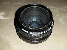 SMC PENTAX-A Camera Lense Lens 1:2 50mm with Kenko UV Filter SL-39 40mm Used