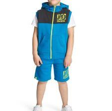 NEW Carbrini Buck Shorts Suit Sleeveless Hoody Set Boys Blue Navy Size 6-7 Years
